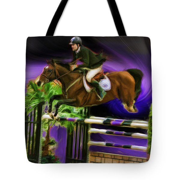 Duncan Mcfarlane On Horse Mr Whoopy Tote Bag