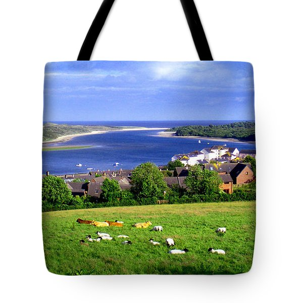 Tote Bag featuring the photograph Dundrum Bay In County Down Ireland by Nina Ficur Feenan