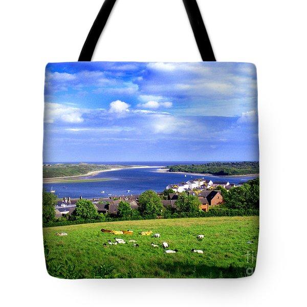 Tote Bag featuring the photograph Dundrum Bay Irish Coastal Scene by Nina Ficur Feenan