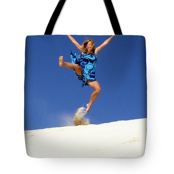 Dune Dance Tote Bag by Ramona Johnston
