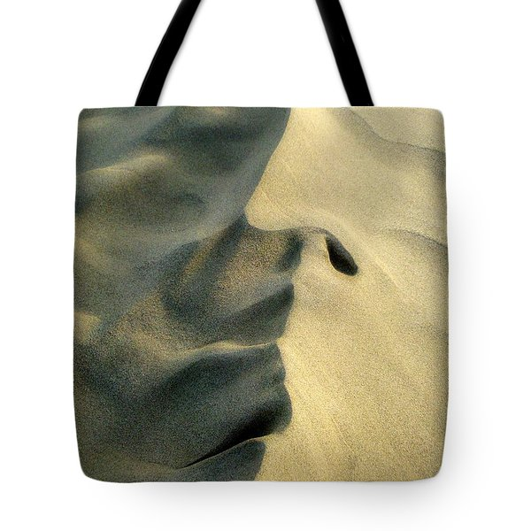 Sleeping Dune Face Tote Bag