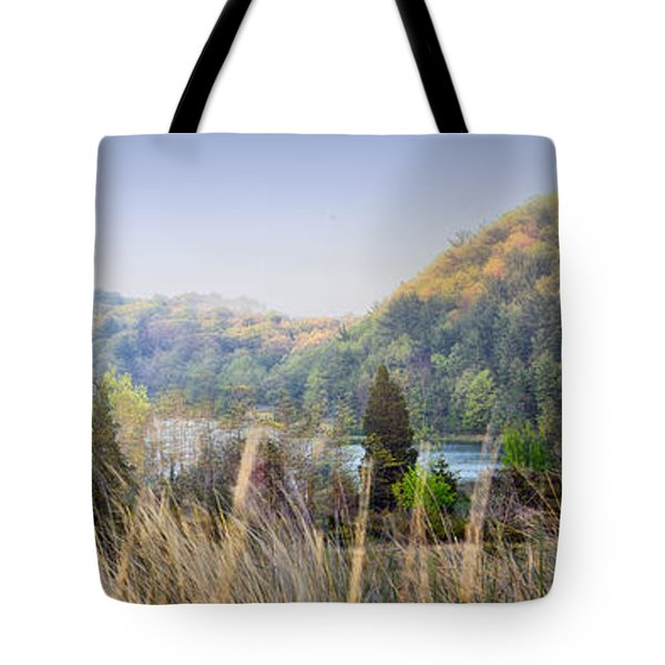 Dune Lake Panorama Saugatuck Mi Tote Bag