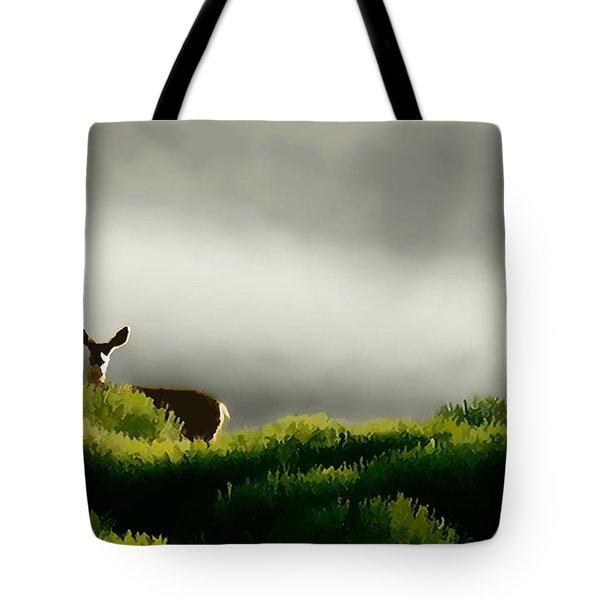Dunes Deer P Tote Bag