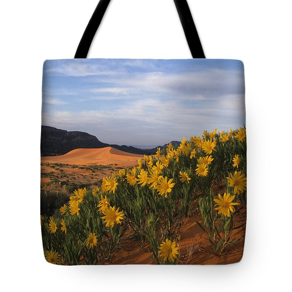 Dunes In Bloom Tote Bag