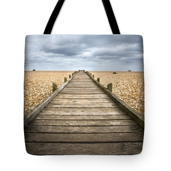 Dungeness Beach Walkway Tote Bag
