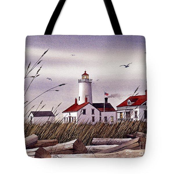 Dungeness Lighthouse Tote Bag