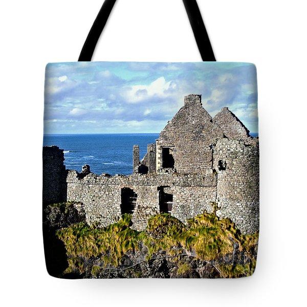 Dunluce Castle Tote Bag by Nina Ficur Feenan