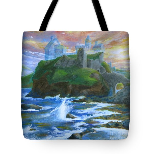 Dunscaith Castle - Shadows Of The Past Tote Bag