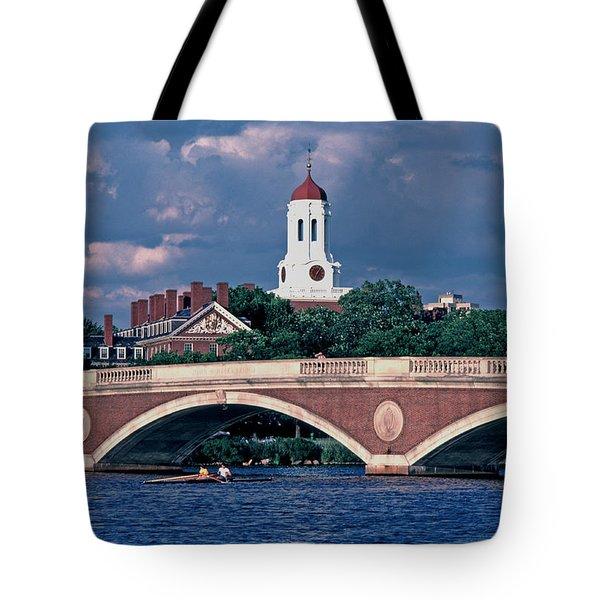 Weeks Bridge Charles River Tote Bag by Tom Wurl