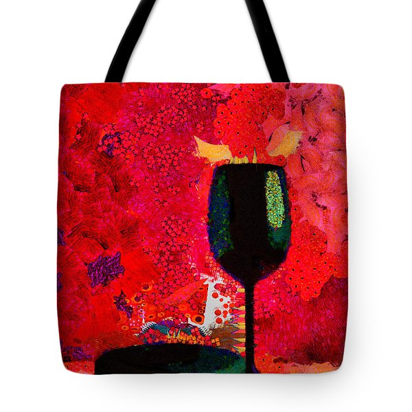 Tote Bag featuring the digital art Duo by Karo Evans