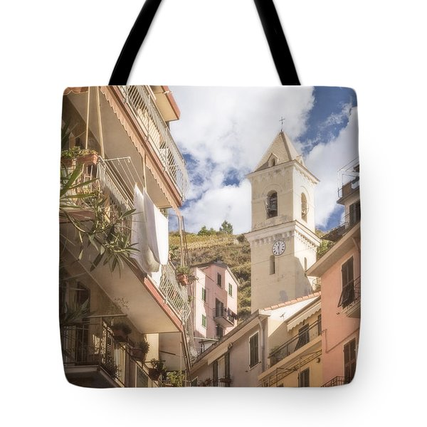 Duomo Bell Tower Of Manarola Tote Bag