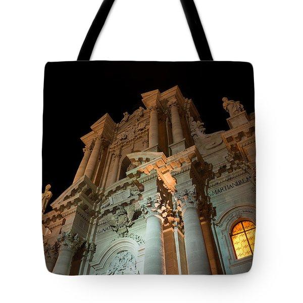 Duomo - Cathedral - Siracusa - Syracuse - Sicily - Italy Tote Bag by Georgia Mizuleva