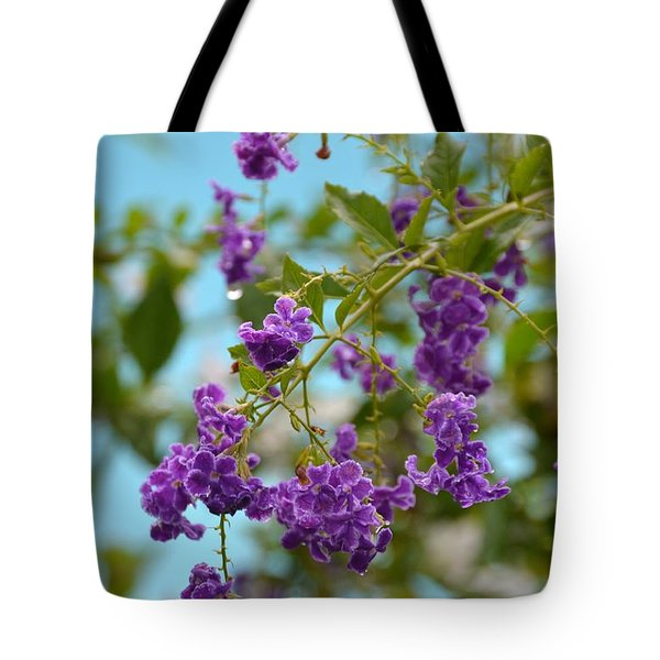 Tote Bag featuring the photograph Duranta- Fresh Morning by Darla Wood