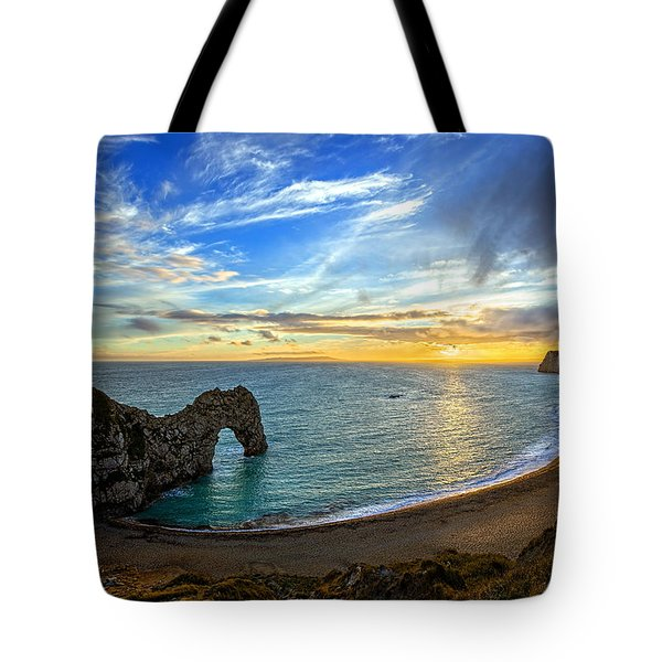 Durdle Door Sunset Tote Bag
