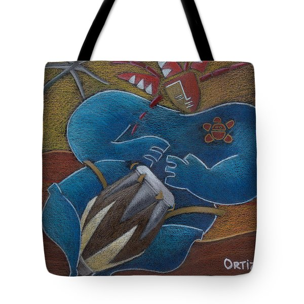 Tote Bag featuring the painting Duro A Los Cueros by Oscar Ortiz