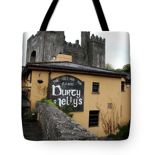 Durty Nellys And Bunraty Castle Tote Bag by Christiane Schulze Art And Photography