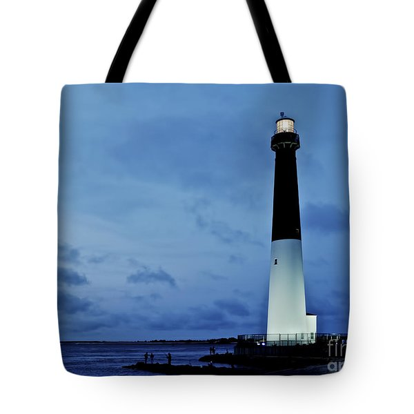 Dusk At Barnegat Lighthouse Tote Bag