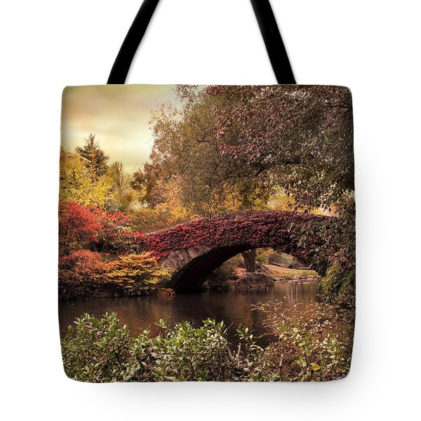 Tote Bag featuring the photograph Dusk At Gapstow by Jessica Jenney