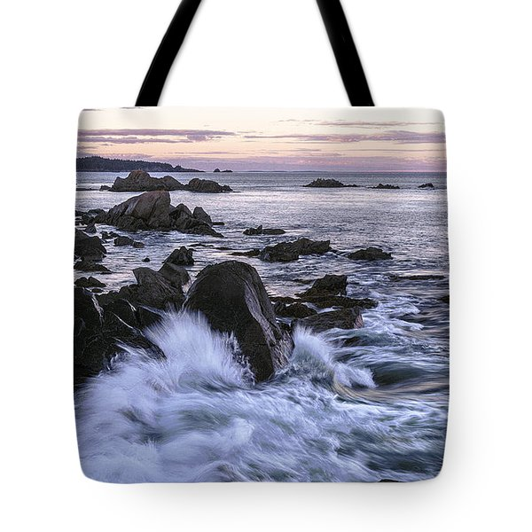 Dusk At West Quoddy Head Light Tote Bag