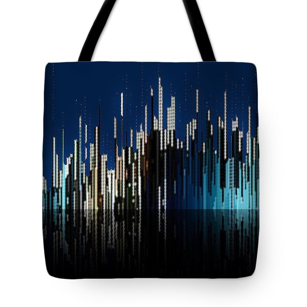 Tote Bag featuring the digital art Dusk by David Manlove