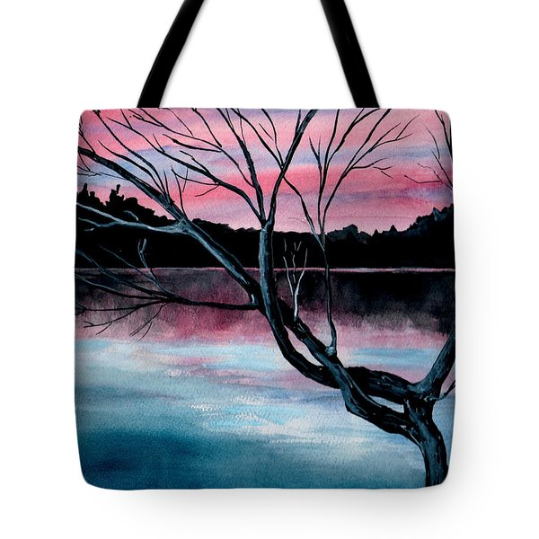 Dusk Lake Arrowhead Maine  Tote Bag
