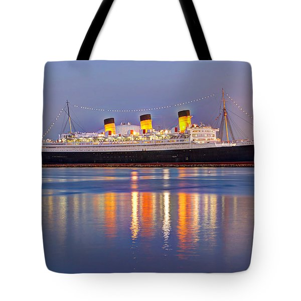 Dusk Light On The Queen Mary Tote Bag
