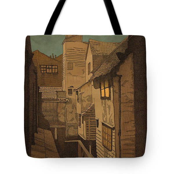Tote Bag featuring the drawing Dusk by Meg Shearer