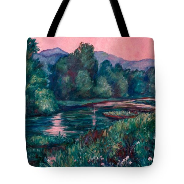 Dusk On The Little River Tote Bag by Kendall Kessler