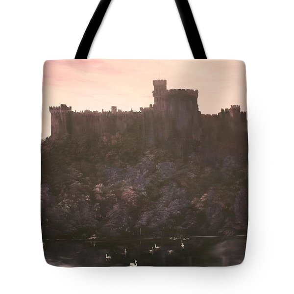 Tote Bag featuring the painting Dusk Over Windsor Castle by Jean Walker