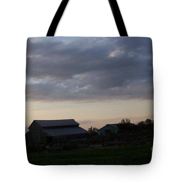 Tote Bag featuring the photograph Dusk Til Dawn by Bobbee Rickard