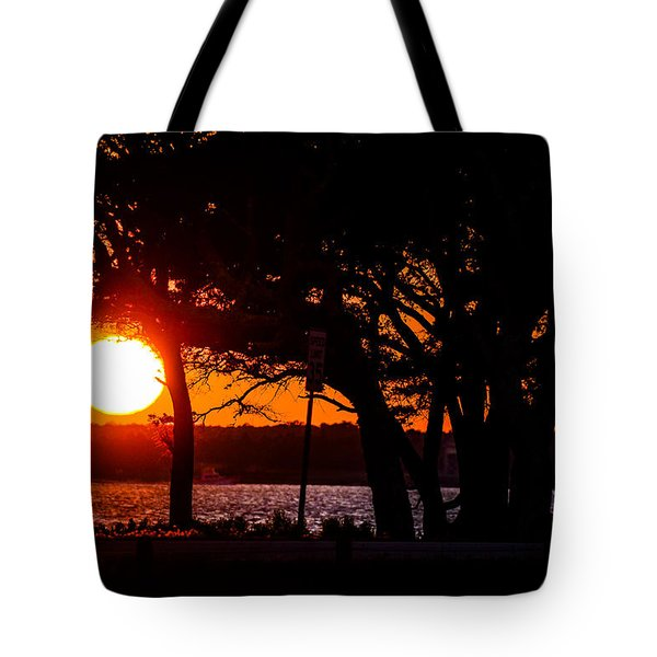 Dusky Cape Fear River  Tote Bag by Mary Ward