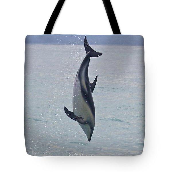 Dusky Dolphin, Kaikoura, New Zealand Tote Bag by Venetia Featherstone-Witty