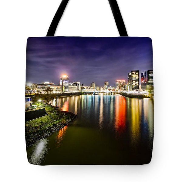 Dusseldorf Media Harbor Skyline Tote Bag