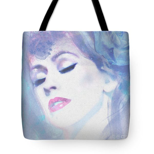 Dusty Blues Tote Bag by Kim Prowse