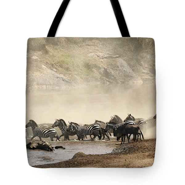 Tote Bag featuring the photograph Dusty Crossing by Liz Leyden