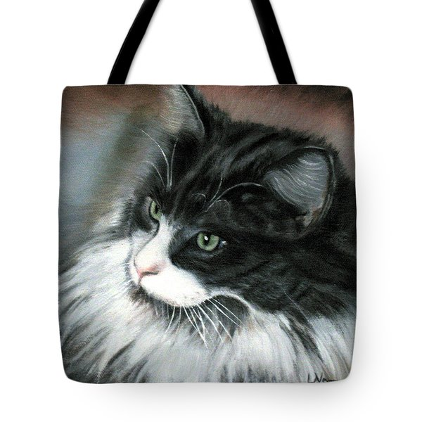 Tote Bag featuring the painting Dusty  by LaVonne Hand