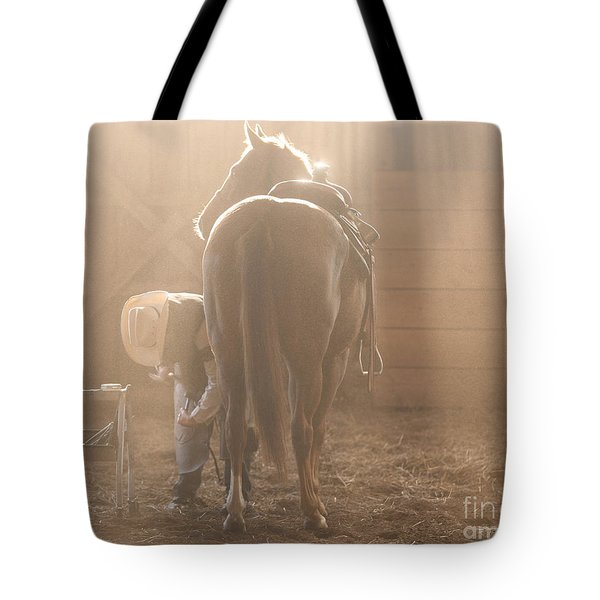 Dusty Morning Pedicure Tote Bag