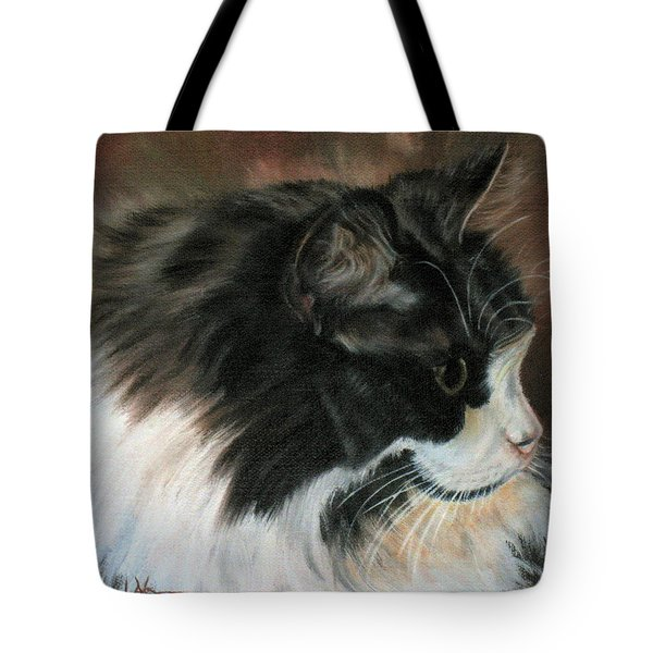 Dusty Our Handsome Norwegian Forest Kitty Tote Bag