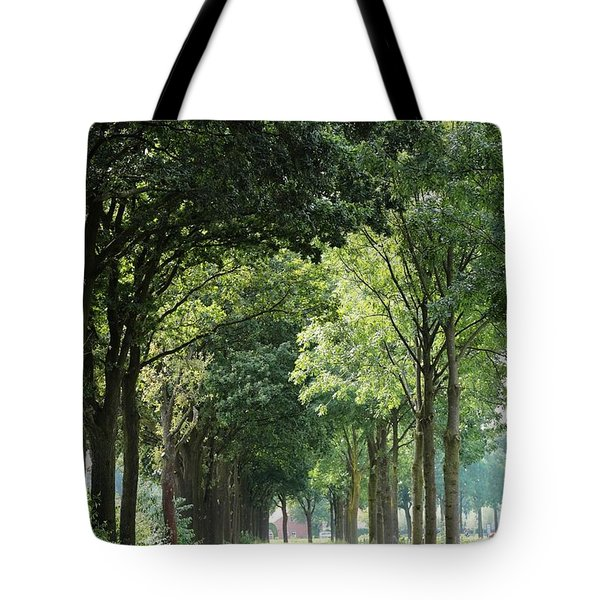 Dutch Landscape - Country Road Tote Bag by Carol Groenen