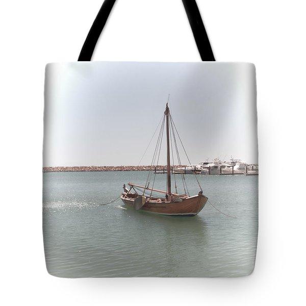 Dutch Vessel Tote Bag by Elaine Teague