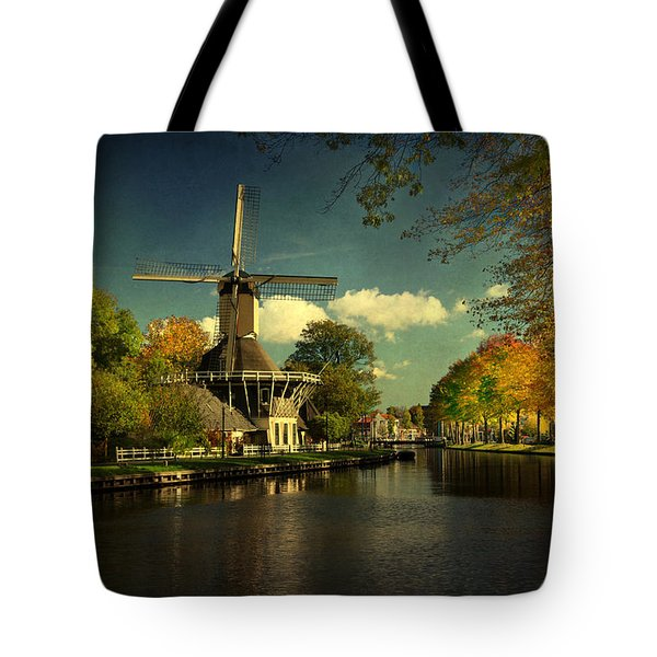 Tote Bag featuring the photograph Dutch Windmill by Annie Snel