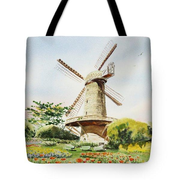 Dutch Windmill In San Francisco  Tote Bag