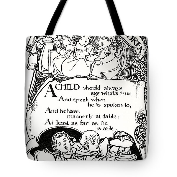 Duty Of Children  1895 Tote Bag by Daniel Hagerman