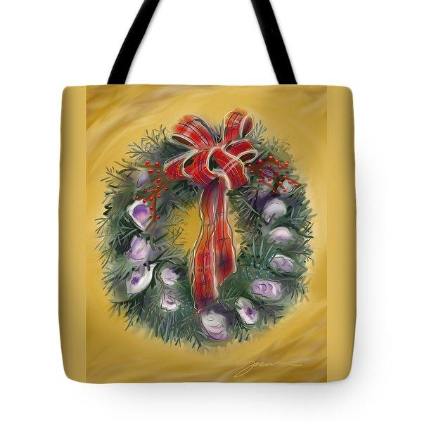 Duxbury Oyster Wreath Tote Bag