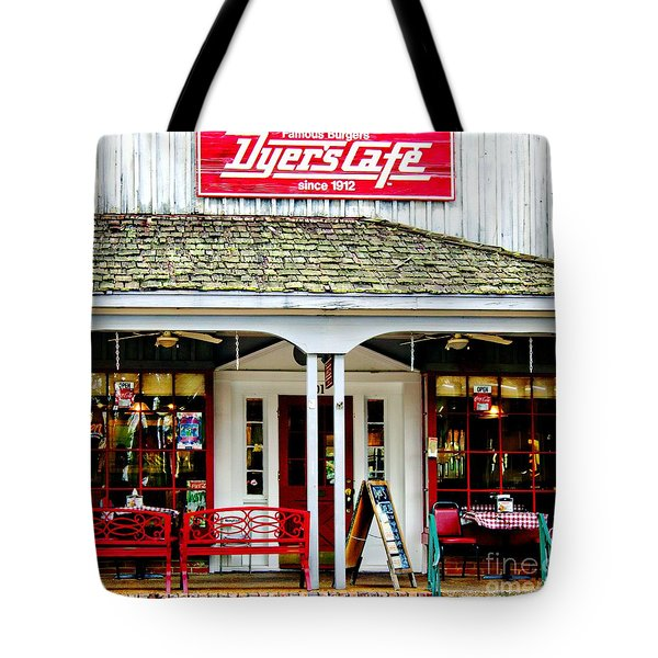 Dyer's Cafe Memphis  Tote Bag by Barbara Chichester