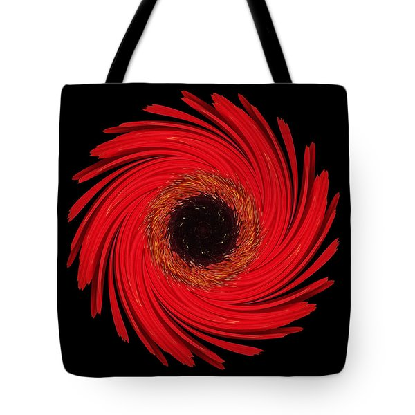 Tote Bag featuring the photograph Dying Amaryllis Flower Mandala by David J Bookbinder