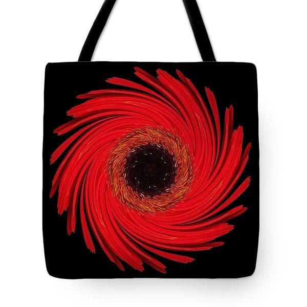 Dying Amaryllis Flower Mandala Tote Bag