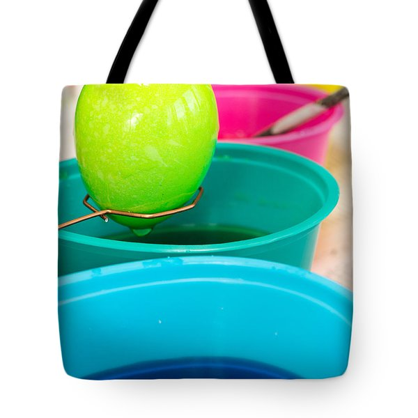 Dying Easter Eggs Tote Bag by Edward Fielding
