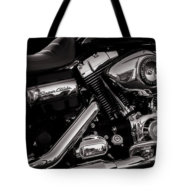 Tote Bag featuring the photograph Dyna Super Glide Custom by Bob Orsillo