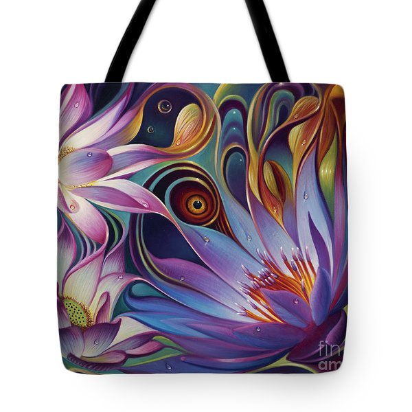 Dynamic Floral Fantasy Tote Bag